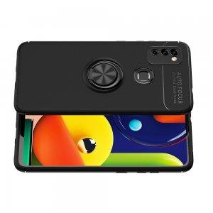 ArmaRing Двухкомпонентный чехол для Samsung Galaxy M51 с кольцом для магнитного автомобильного держателя - Черный