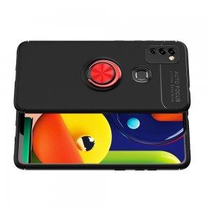 ArmaRing Двухкомпонентный чехол для Samsung Galaxy M51 с кольцом для магнитного автомобильного держателя - Красный / Черный