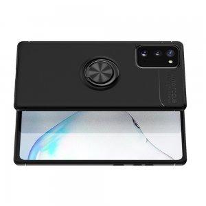 ArmaRing Двухкомпонентный чехол для Samsung Galaxy Note 20 с кольцом для магнитного автомобильного держателя - Черный