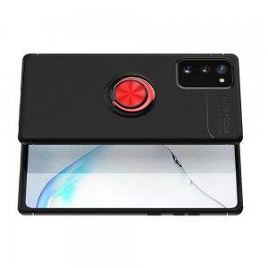 ArmaRing Двухкомпонентный чехол для Samsung Galaxy Note 20 с кольцом для магнитного автомобильного держателя - Красный / Черный