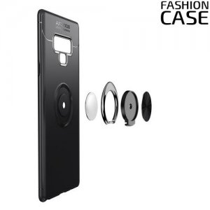 ArmaRing Двухкомпонентный чехол для Samsung Galaxy Note 9 с кольцом для магнитного автомобильного держателя - Черный