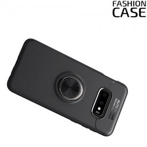 ArmaRing Двухкомпонентный чехол для Samsung Galaxy S10e с кольцом для магнитного автомобильного держателя - Черный