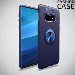 ArmaRing Двухкомпонентный чехол для Samsung Galaxy S10 Plus с кольцом для магнитного автомобильного держателя - Синий