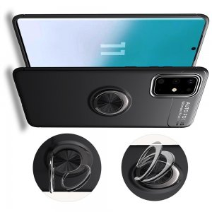 ArmaRing Двухкомпонентный чехол для Samsung Galaxy S20 FE с кольцом для магнитного автомобильного держателя - Черный