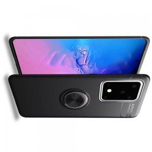 ArmaRing Двухкомпонентный чехол для Samsung Galaxy S20 Ultra с кольцом для магнитного автомобильного держателя - Черный
