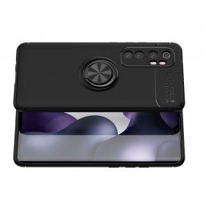 ArmaRing Двухкомпонентный чехол для Xiaomi Mi Note 10 Lite с кольцом для магнитного автомобильного держателя - Черный