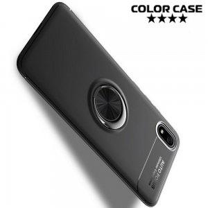 ArmaRing Двухкомпонентный чехол для Xiaomi Redmi 7A с кольцом для магнитного автомобильного держателя - Черный
