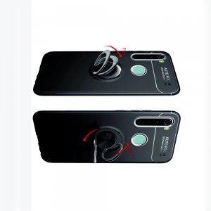ArmaRing Двухкомпонентный чехол для Xiaomi Redmi Note 8 с кольцом для магнитного автомобильного держателя - Черный