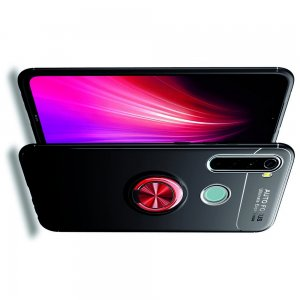 ArmaRing Двухкомпонентный чехол для Xiaomi Redmi Note 8T / Note 8 с кольцом для магнитного автомобильного держателя - Красный / Черный
