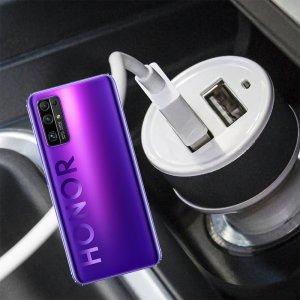 Автомобильная зарядка для Huawei Honor 30 высокой мощности 2 USB 2.1A
