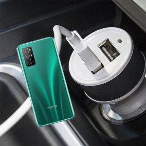 Автомобильная зарядка для Huawei Honor 30S высокой мощности 2 USB 2.1A