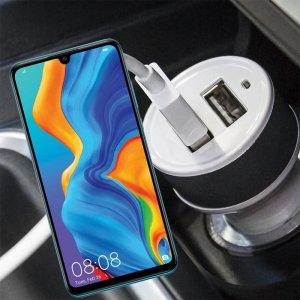 Автомобильная зарядка для Huawei P30 Lite высокой мощности 2 USB 2.1A