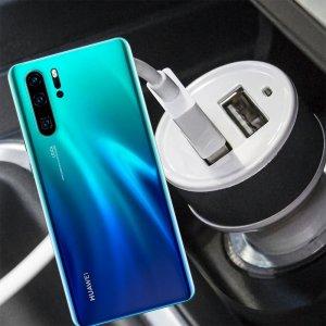 Автомобильная зарядка для Huawei P30 Pro высокой мощности 2 USB 2.1A