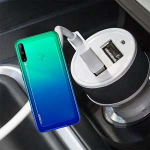 Автомобильная зарядка для Huawei P40 lite E высокой мощности 2 USB 2.1A