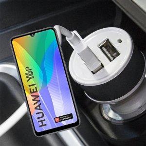 Автомобильная зарядка для Huawei Y6p высокой мощности 2 USB 2.1A