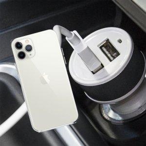 Автомобильная зарядка для iPhone 11 Pro высокой мощности 2 USB 2.1A