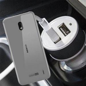 Автомобильная зарядка для Nokia 2.2 высокой мощности 2 USB 2.1A