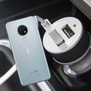 Автомобильная зарядка для Nokia 6.2 высокой мощности 2 USB 2.1A