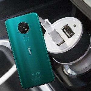 Автомобильная зарядка для Nokia 7.2 высокой мощности 2 USB 2.1A
