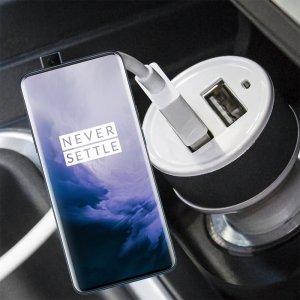 Автомобильная зарядка для OnePlus 7 Pro высокой мощности 2 USB 2.1A