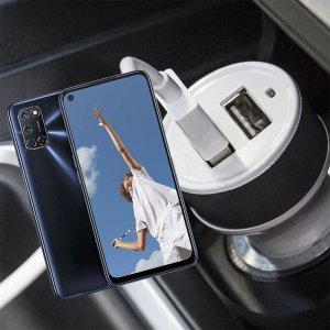 Автомобильная зарядка для OPPO A52 / A72 высокой мощности 2 USB 2.1A