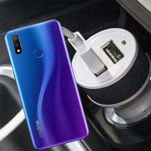 Автомобильная зарядка для Realme 3 Pro высокой мощности 2 USB 2.1A