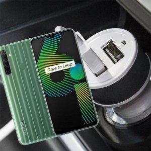 Автомобильная зарядка для Realme 6i высокой мощности 2 USB 2.1A
