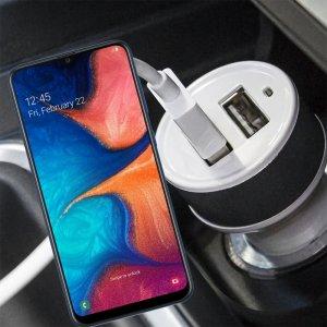 Автомобильная зарядка для Samsung Galaxy A30 / A20 высокой мощности 2 USB 2.1A