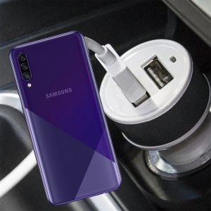Автомобильная зарядка для Samsung Galaxy A30s высокой мощности 2 USB 2.1A
