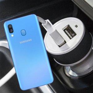 Автомобильная зарядка для Samsung Galaxy A40 высокой мощности 2 USB 2.1A