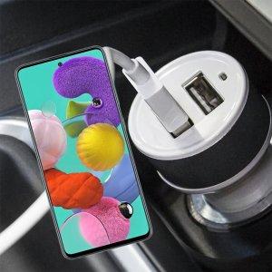 Автомобильная зарядка для Samsung Galaxy A51 высокой мощности 2 USB 2.1A