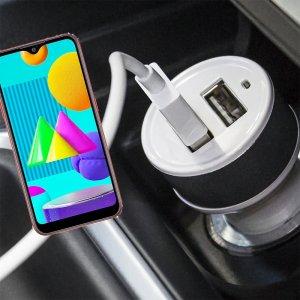 Автомобильная зарядка для Samsung Galaxy M01 высокой мощности 2 USB 2.1A