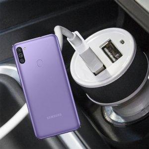 Автомобильная зарядка для Samsung Galaxy M11 высокой мощности 2 USB 2.1A