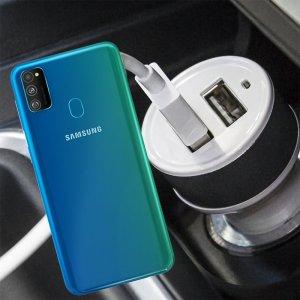 Автомобильная зарядка для Samsung Galaxy M30s высокой мощности 2 USB 2.1A