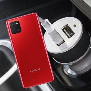 Автомобильная зарядка для Samsung Galaxy Note 10 Lite высокой мощности 2 USB 2.1A