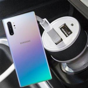 Автомобильная зарядка для Samsung Galaxy Note 10 Plus / 10+ высокой мощности 2 USB 2.1A