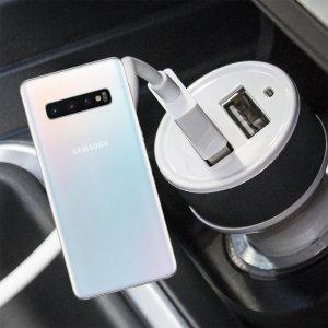 Автомобильная зарядка для Samsung Galaxy S10 высокой мощности 2 USB 2.1A