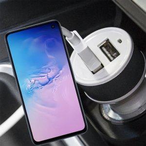 Автомобильная зарядка для Samsung Galaxy S10e высокой мощности 2 USB 2.1A