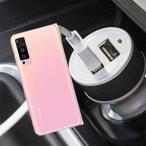 Автомобильная зарядка для vivo X50 высокой мощности 2 USB 2.1A