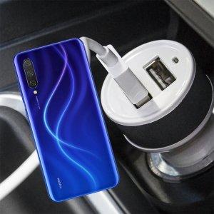 Автомобильная зарядка для Xiaomi Mi 9 lite высокой мощности 2 USB 2.1A