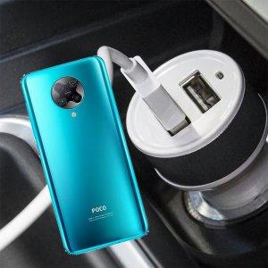 Автомобильная зарядка для Xiaomi Poco F2 Pro высокой мощности 2 USB 2.1A