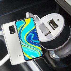 Автомобильная зарядка для Xiaomi Redmi Note 9 Pro высокой мощности 2 USB 2.1A