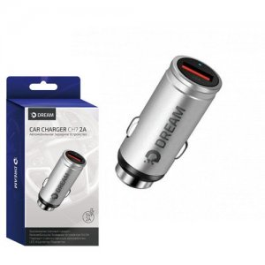 Автомобильная зарядка Dream CH7 2A USB серебро