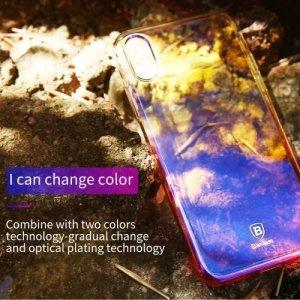 Baseus пластиковый чехол накладка для iPhone Xs / X – Желтый и голубой градиент