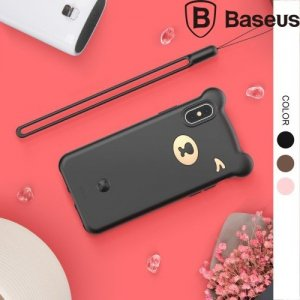 Baseus Силиконовый защитный чехол для iPhone XS Max Мишка