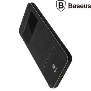 Baseus Simple Series чехол с функцией умного ответа для iPhone 8/7 - Черный