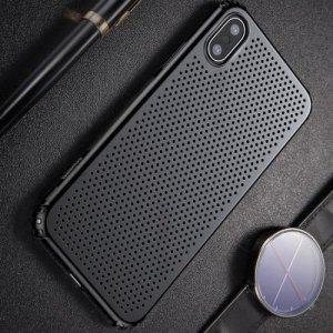 Baseus Small Hole пластиковый дышащий чехол для iPhone Xs / X - Черный