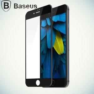 Baseus защитное стекло 3D для iphone 7 на весь экран с закругленными силиконовыми краями - Черный