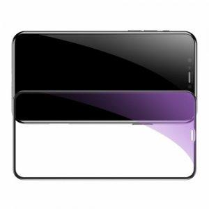 Baseus Защитное олеофобное стекло Anti Blue Light против синего цвета iPhone 11 Черный