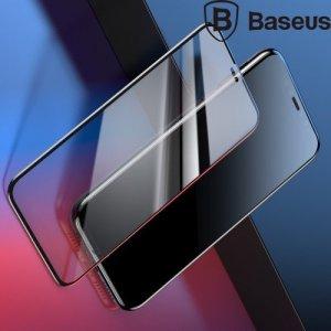 Baseus защитное стекло 3D для iPhone XR / iPhone 11 на весь экран с закругленными краями - Черный